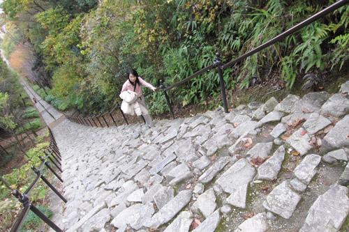 二上山ふるさと公園 / 456段の石段登り