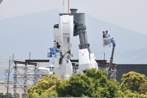 ガンダム、静岡の大地に立つ(まであと少し)