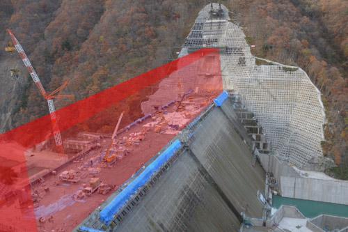 湯西川ダム(工事中)見学 / あまりに短いが、いい経験